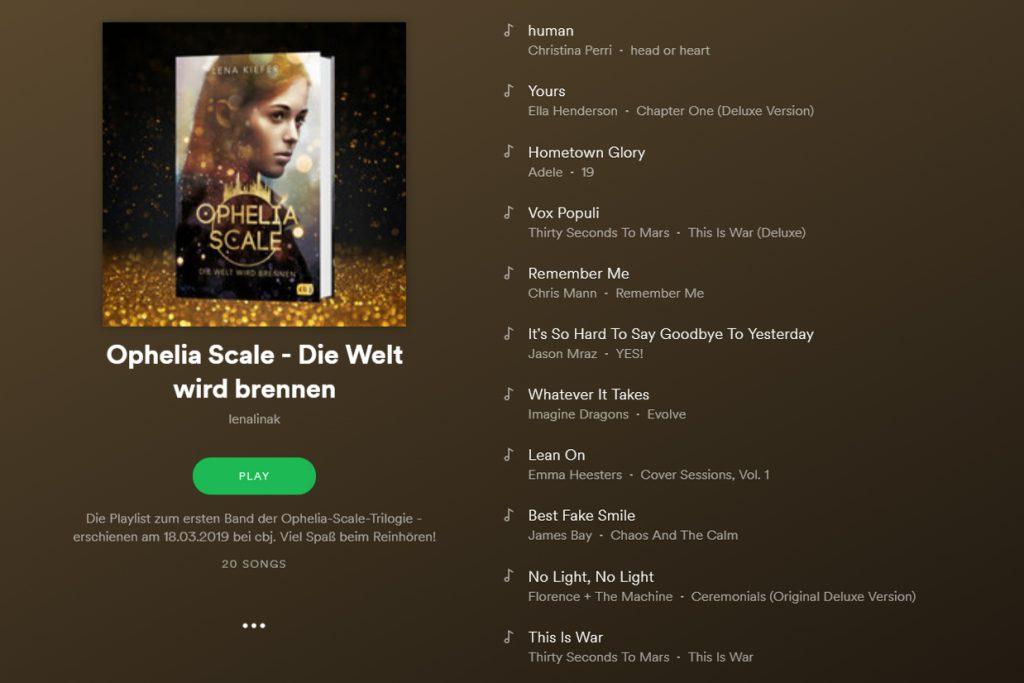 "Die Spotify-Playlist zu ""Ophelia Scale – Die Welt wird"